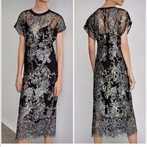 Bcbg embroidered lace dress